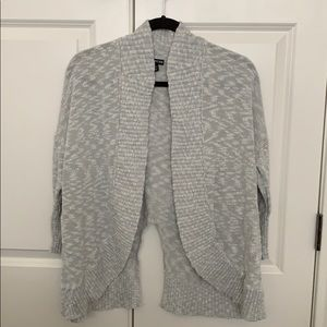 Express Shawl Cardigan Marl Gray Knit sz Large